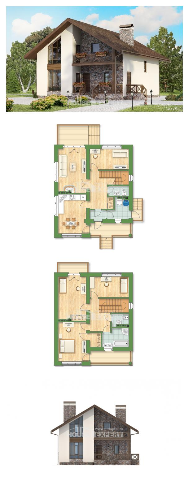 Проект дома 155-001-П   House Expert