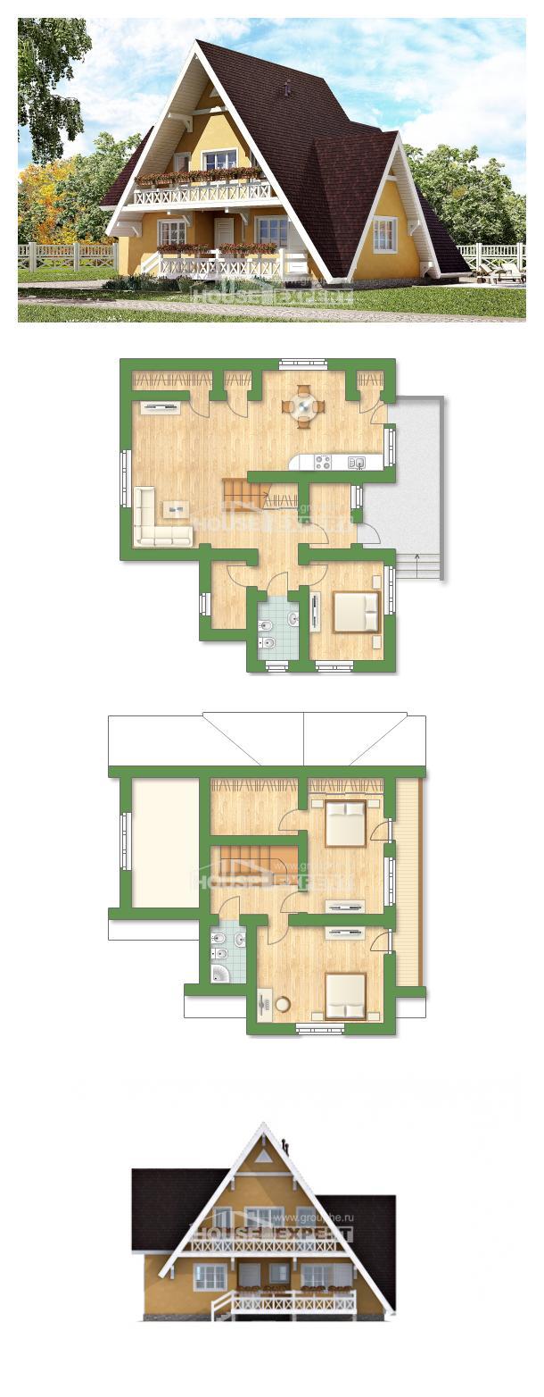 Проект дома 155-008-П   House Expert