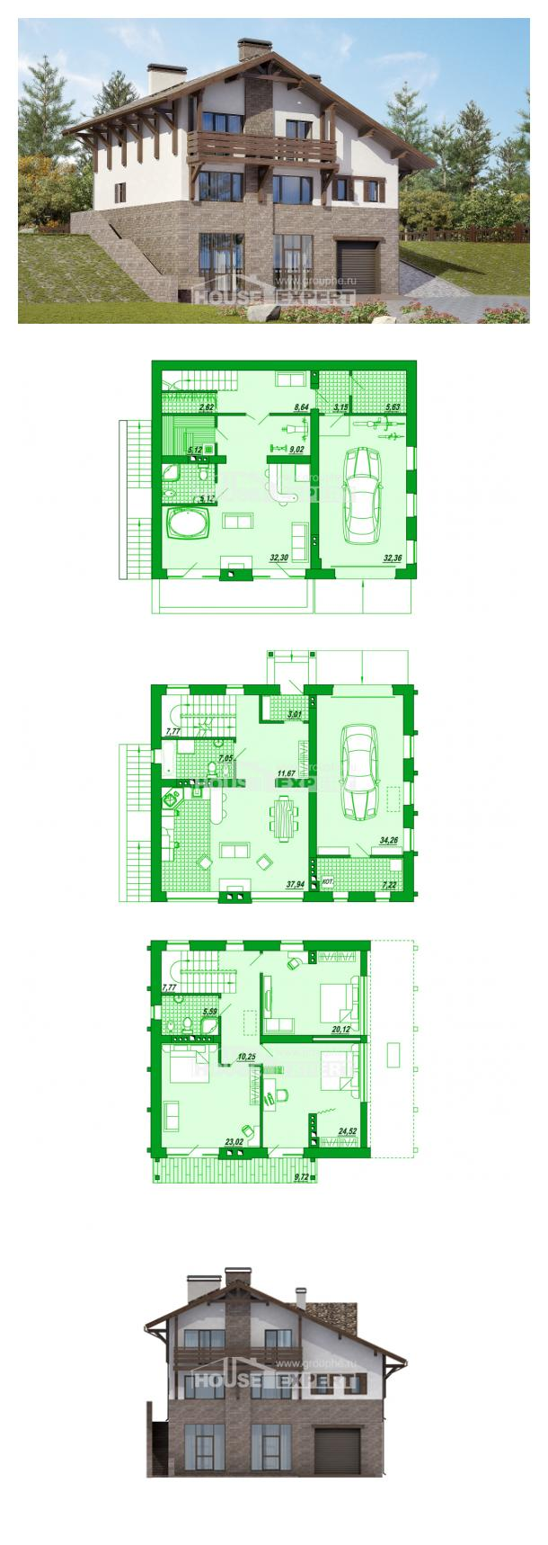 Проект дома 305-002-П | House Expert