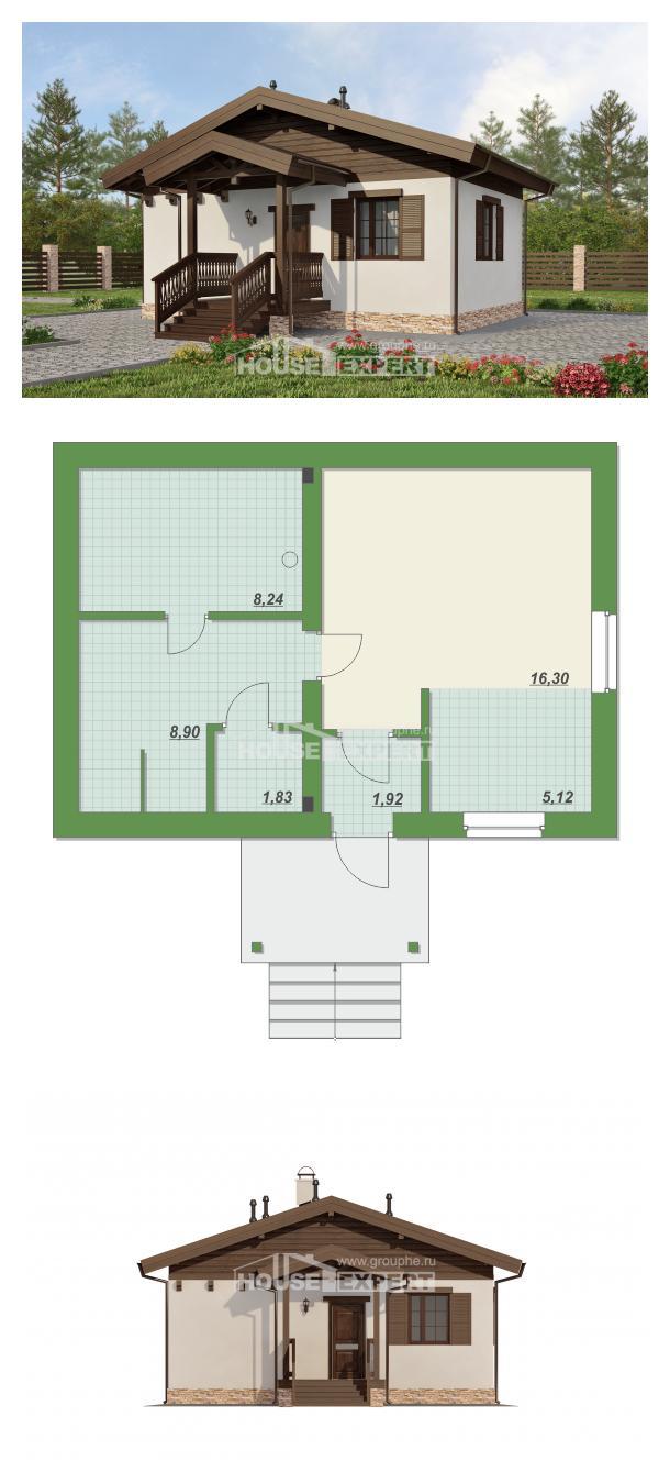 Проект дома 040-003-П | House Expert